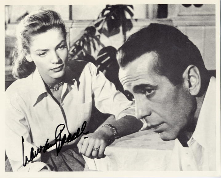 Bacall, Lauren (1924- ) Bacall & Bogart in 'key Largo'<b> SOLD